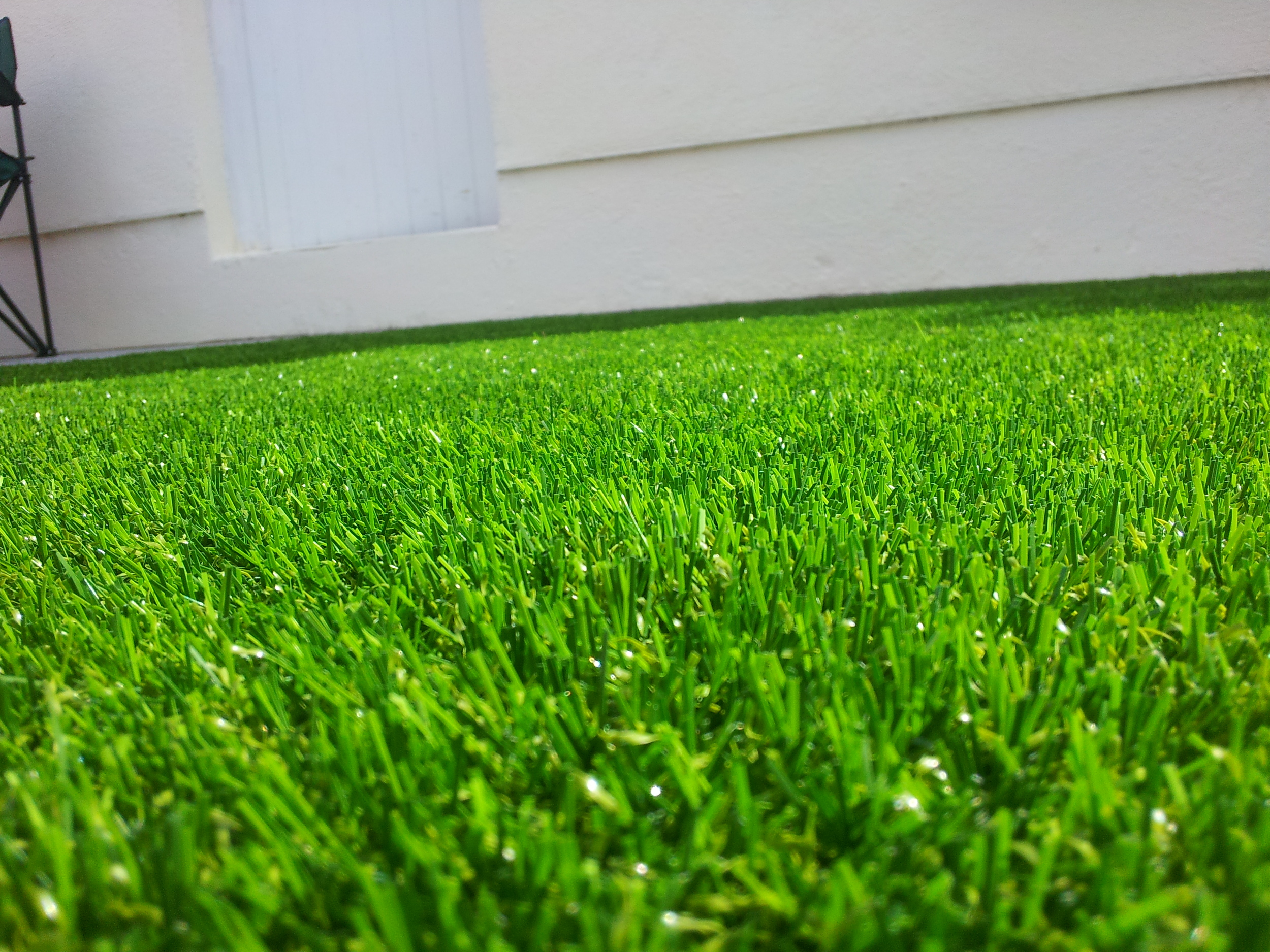 close up of artificial grass