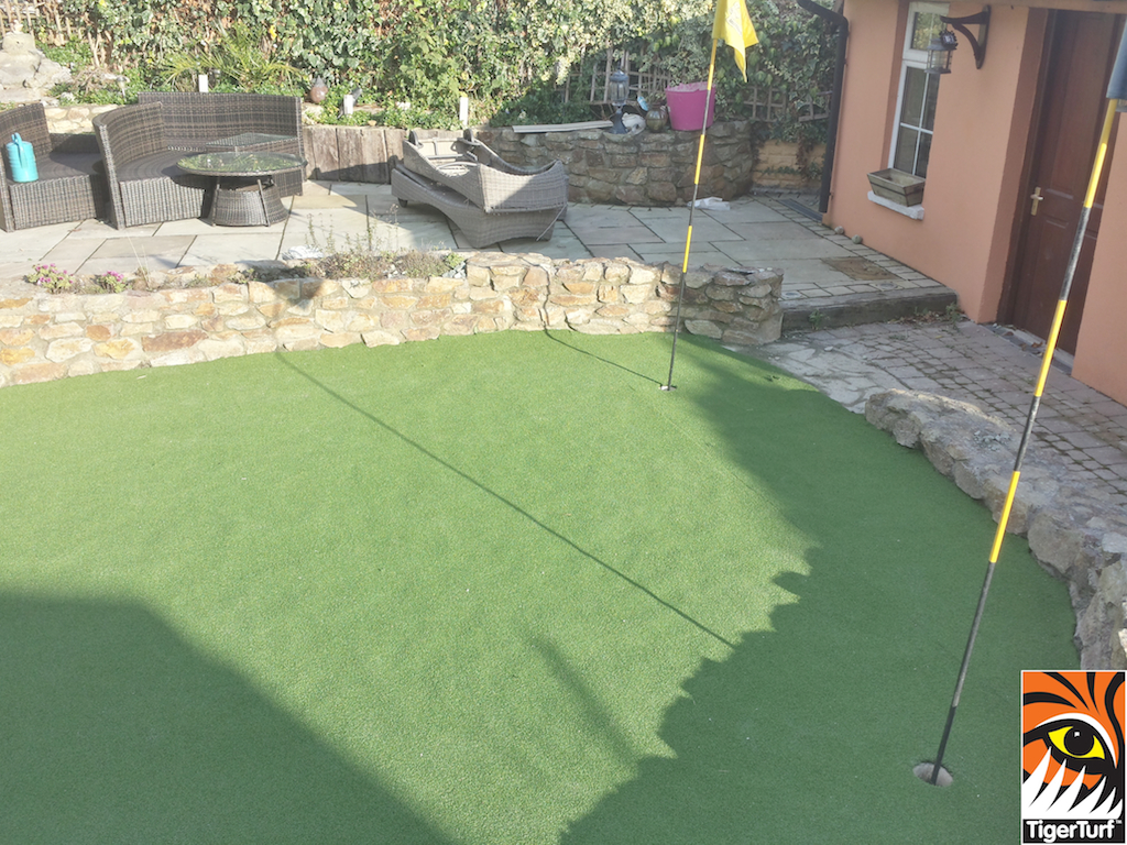 Golf Green installed in back garden