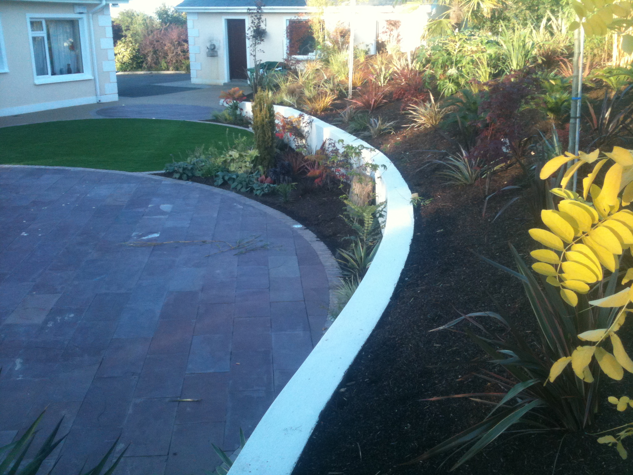 Garden landscaped with TigerTurf