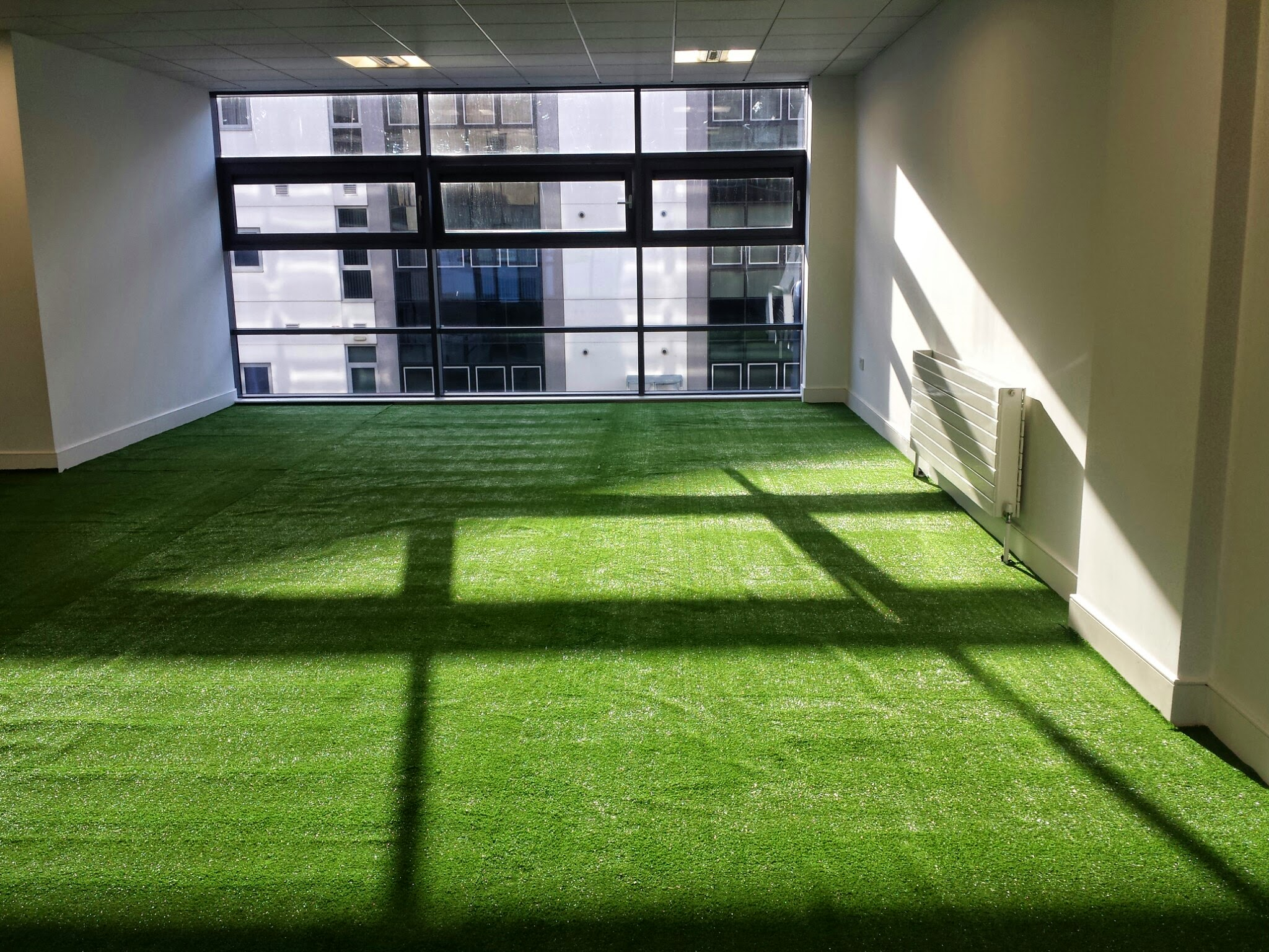 synthetic grass on floor