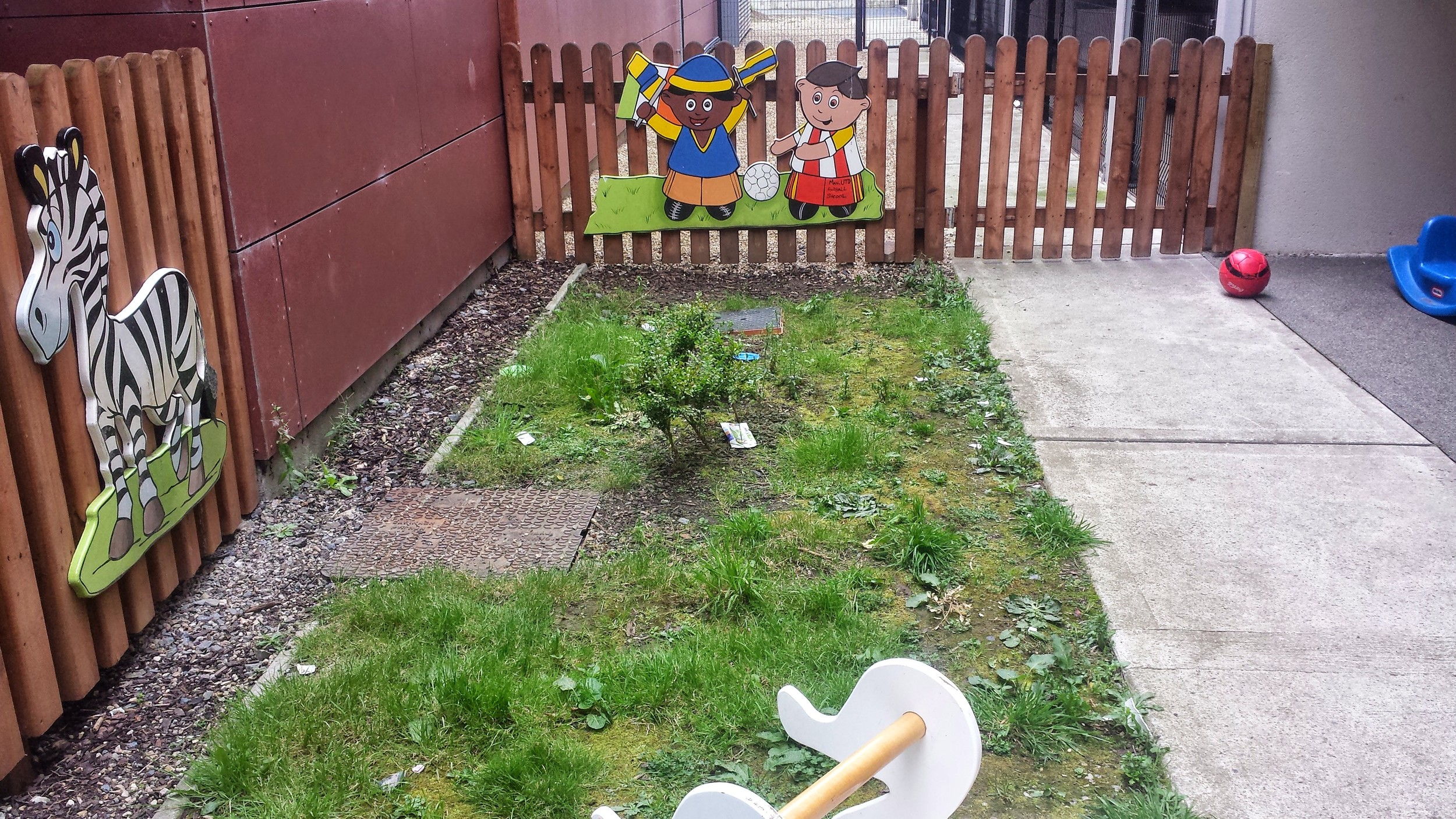 play area prior to lawn installation