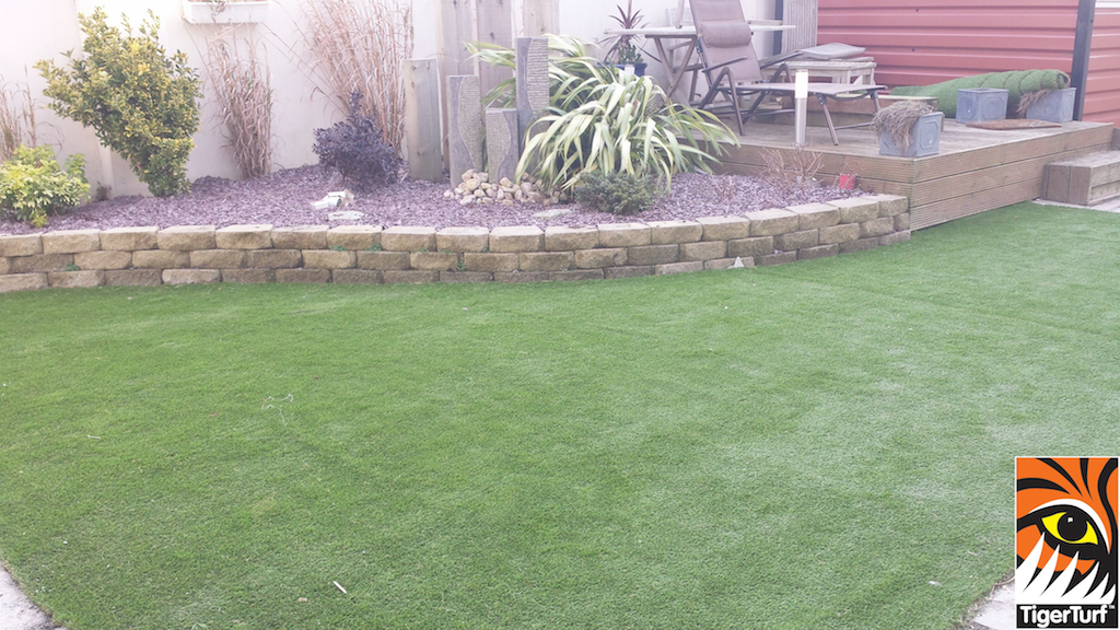 artificial lawn and grass