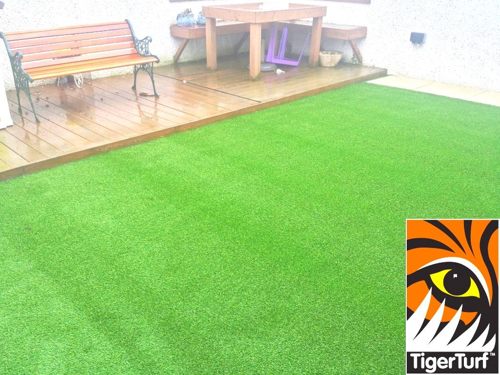 new play grass installation