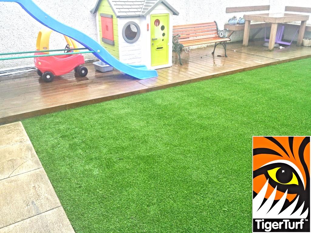 Garden toys and play area of creche