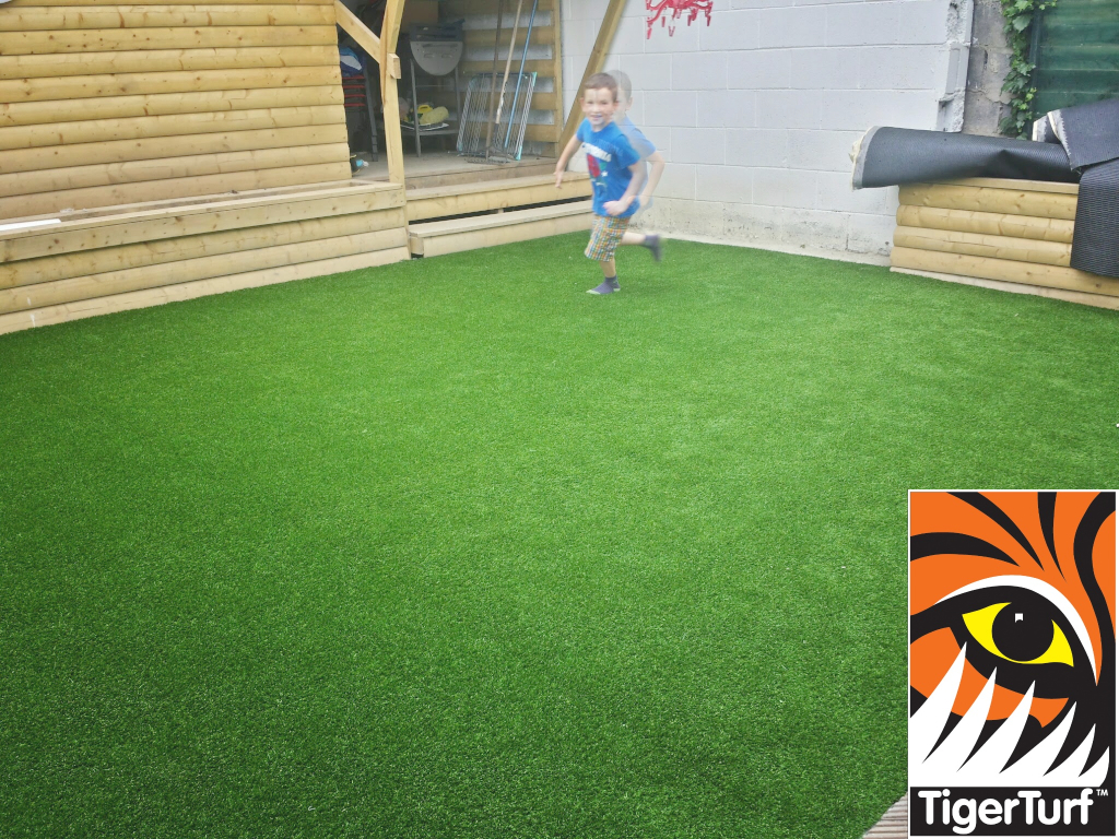 New synthetic grass install