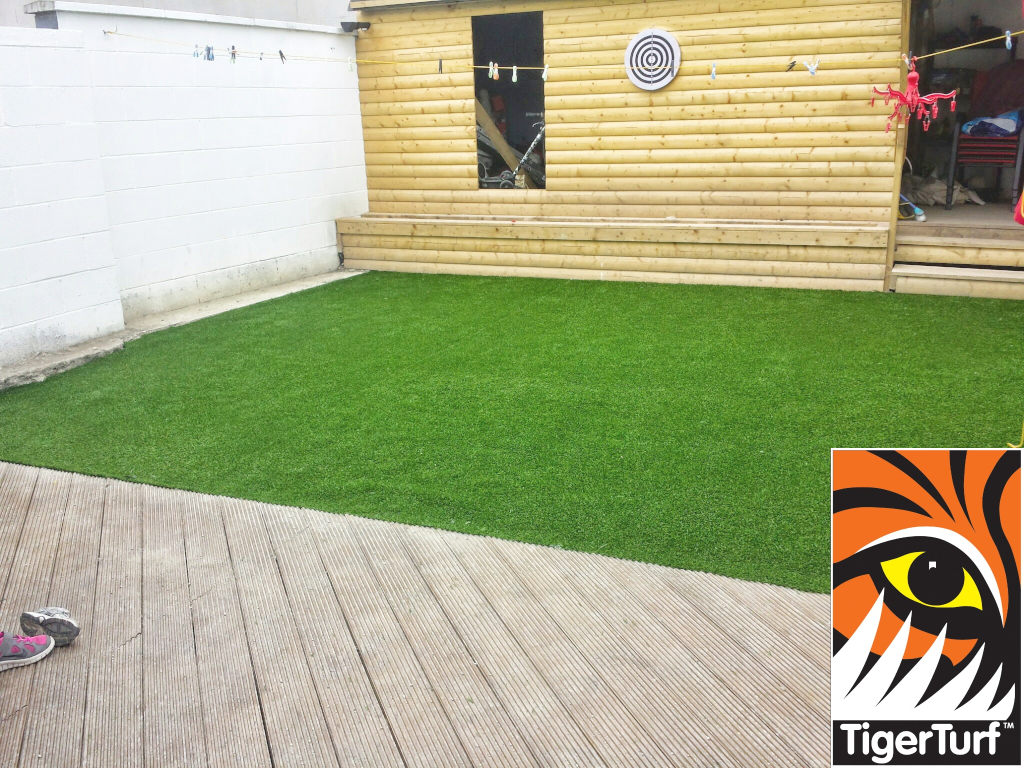decking and synthetic grass