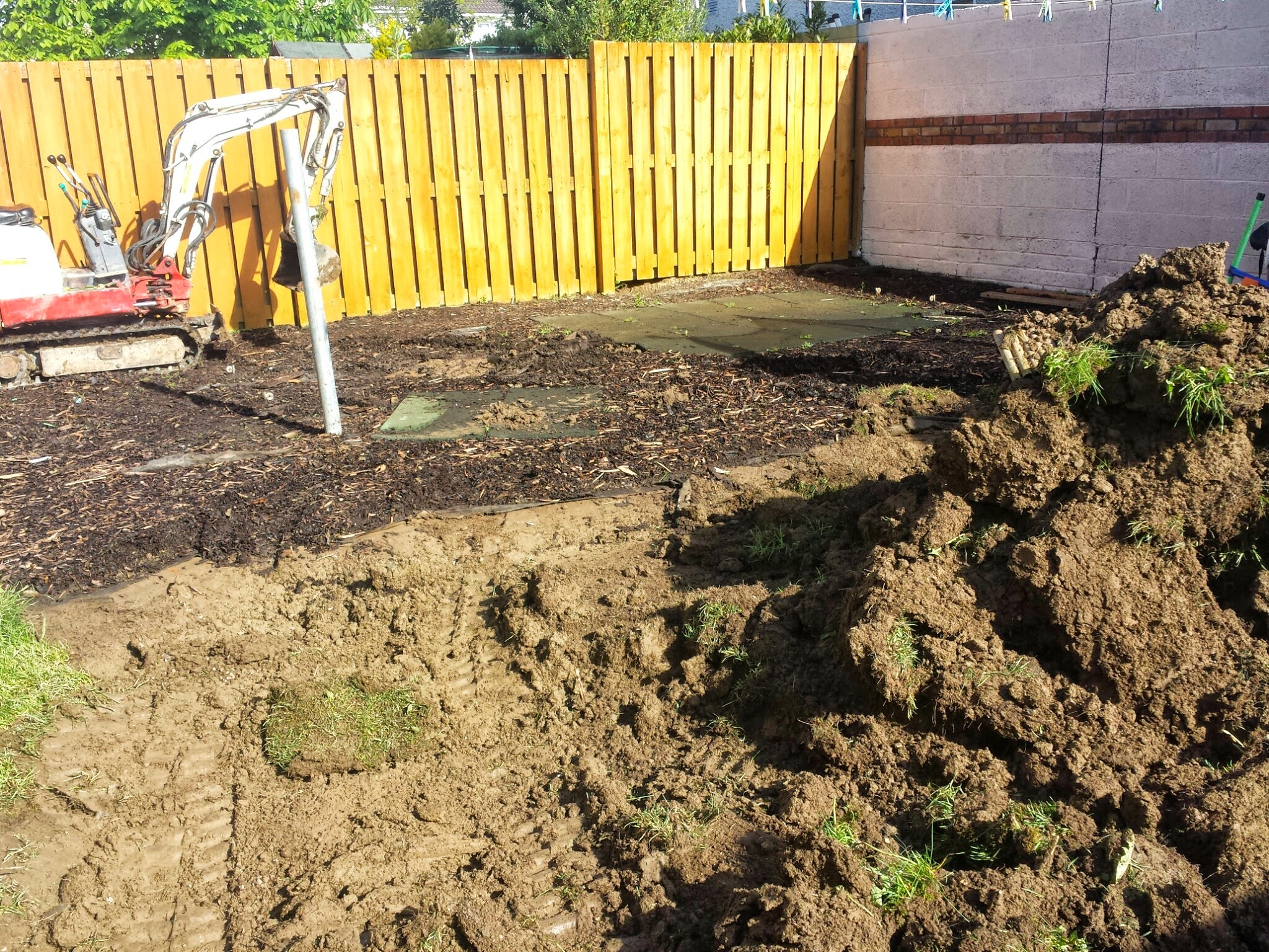 split level excavation