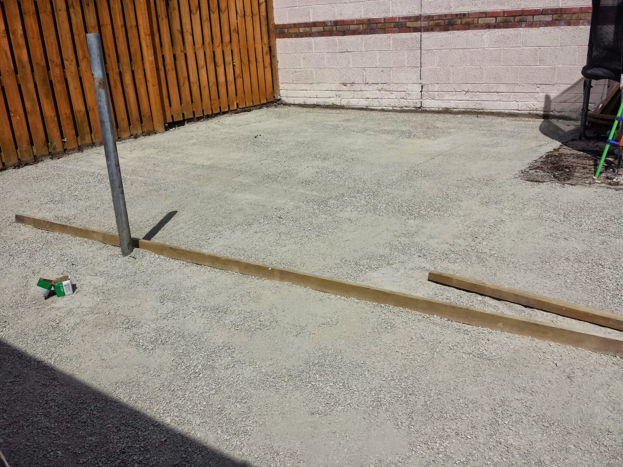 limestone screed dust in preparation for grass