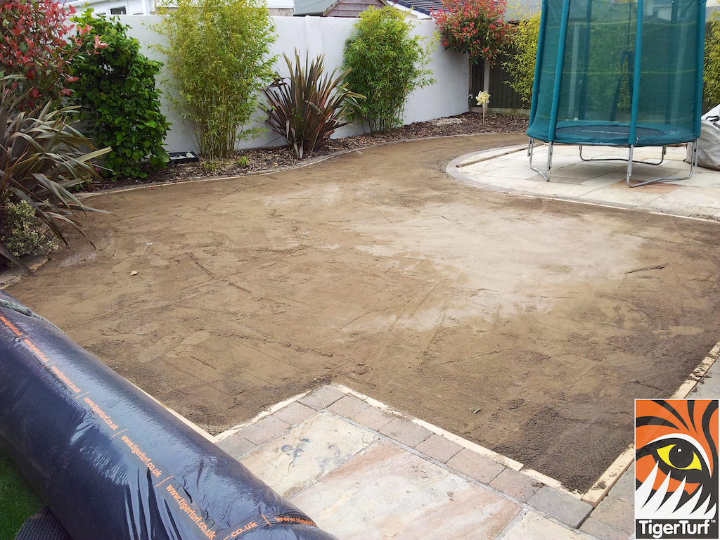 area ready for grass turf