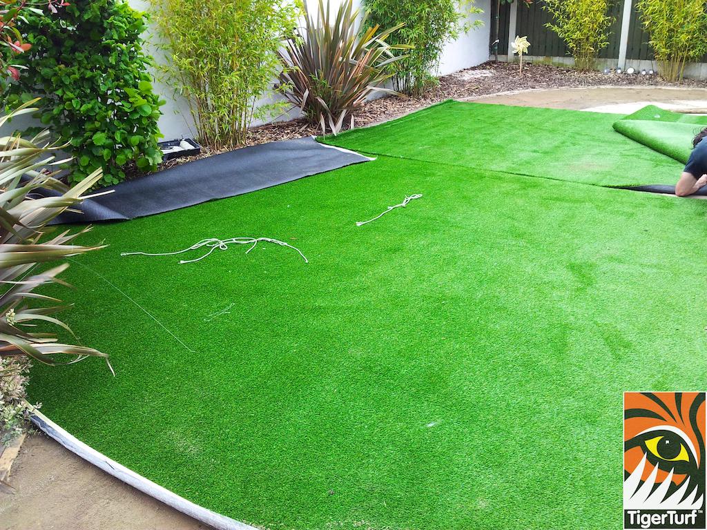 Installing Synthetic Garden Grass