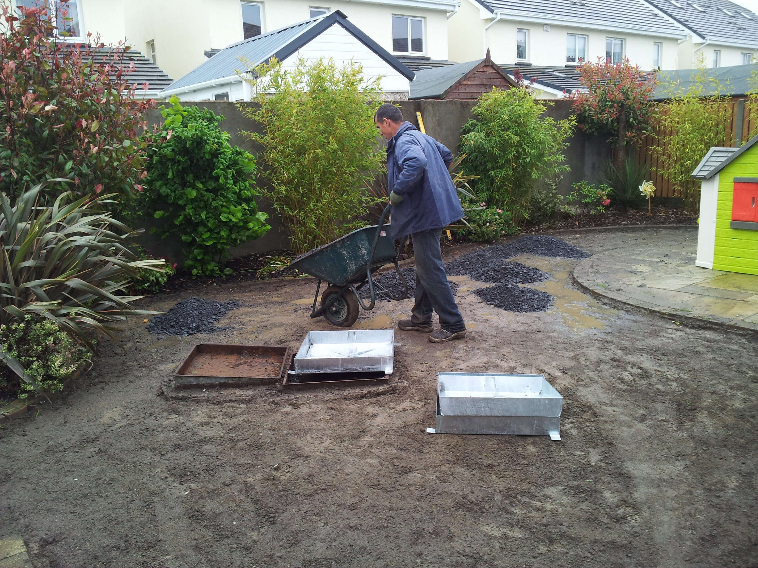 Installation of drainage covers