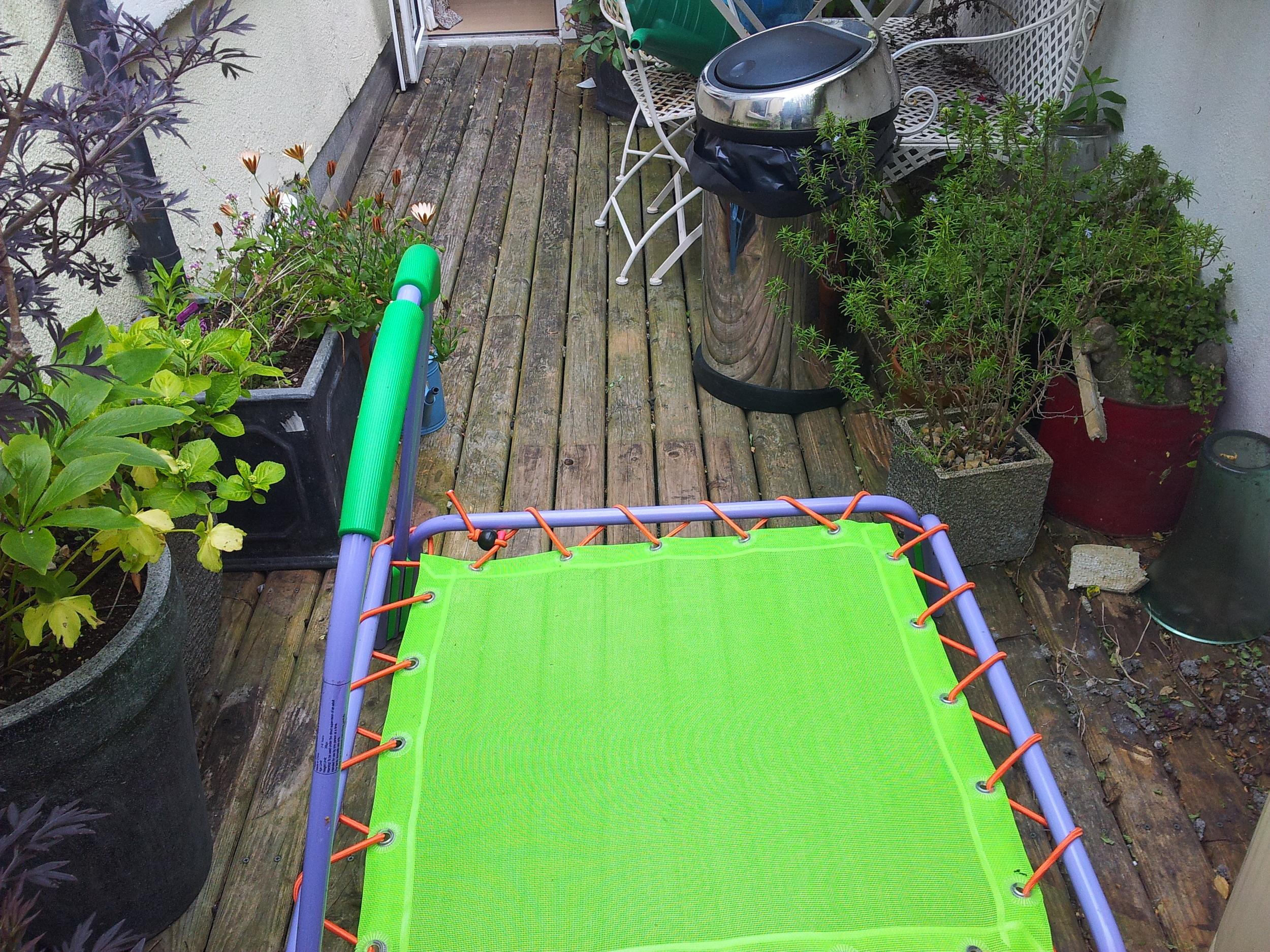 Garden decking before turf install
