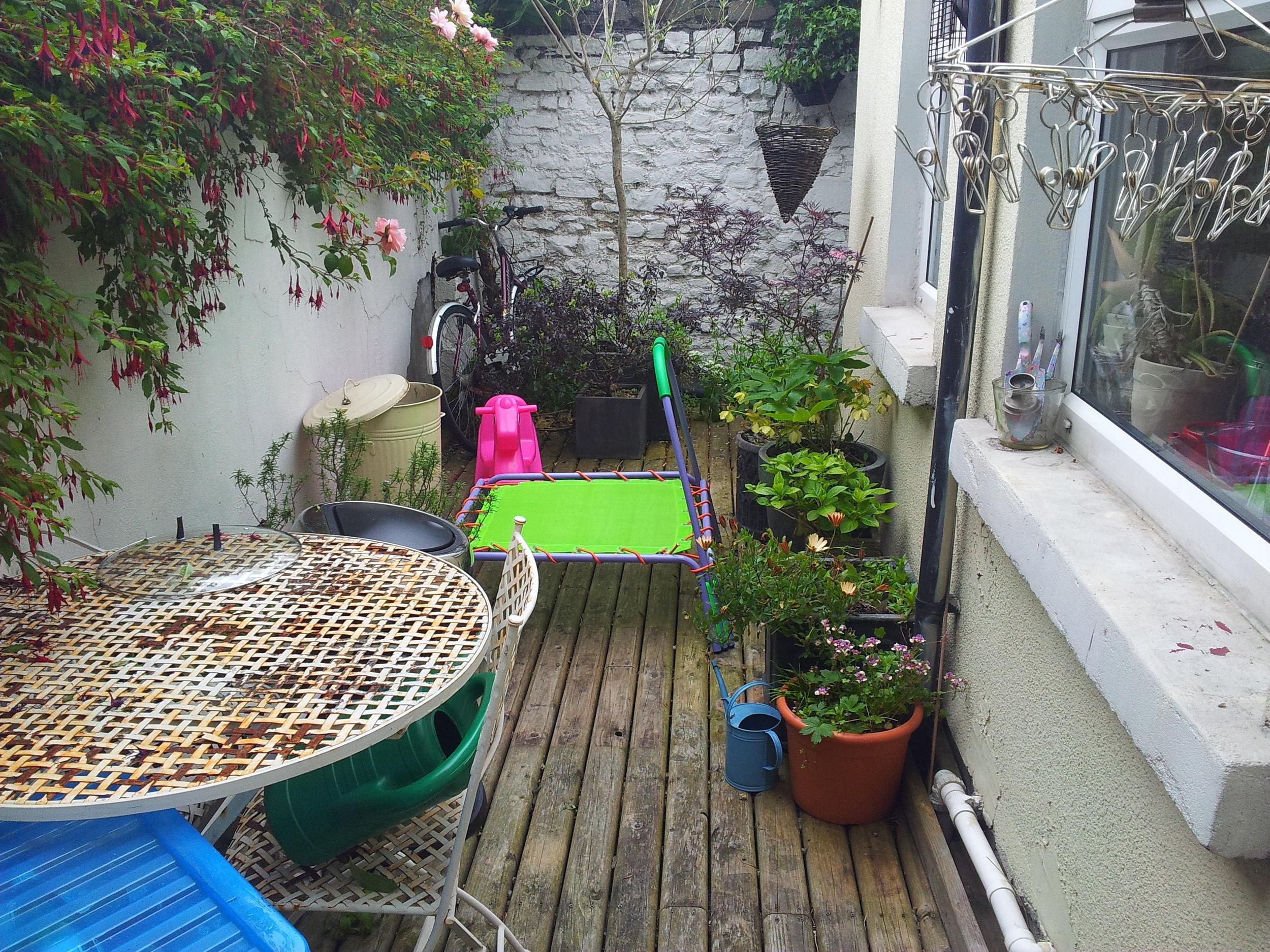 garden decking prior to installation