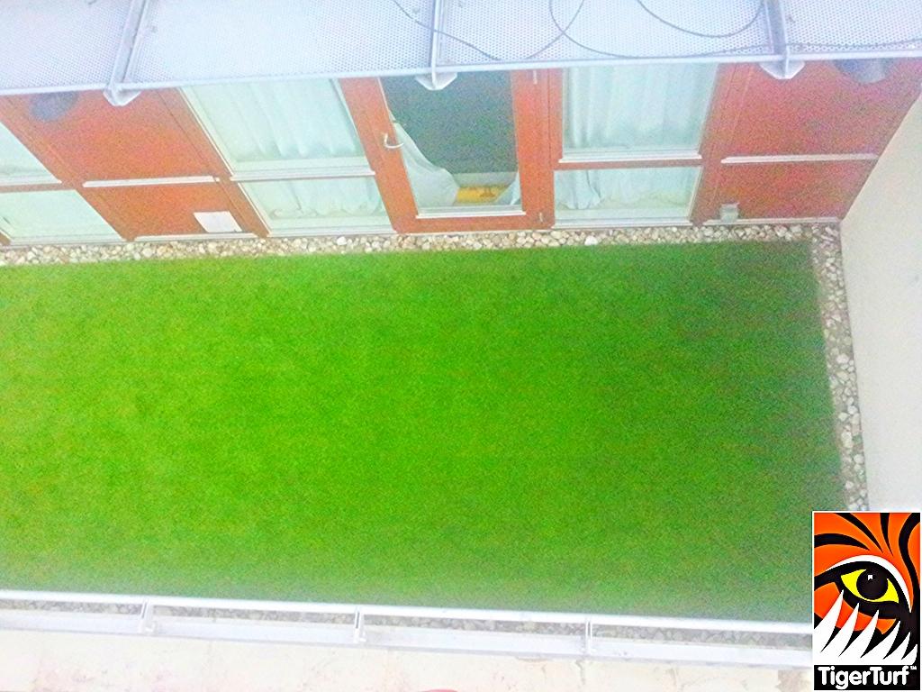 overhead shot of balcony