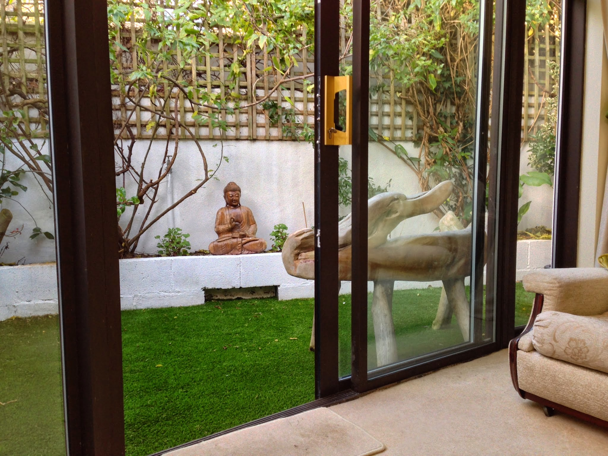 Garden Budda and TigerTurf