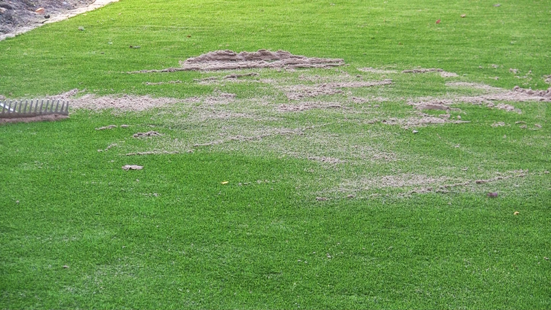 sanding of synthetic turf