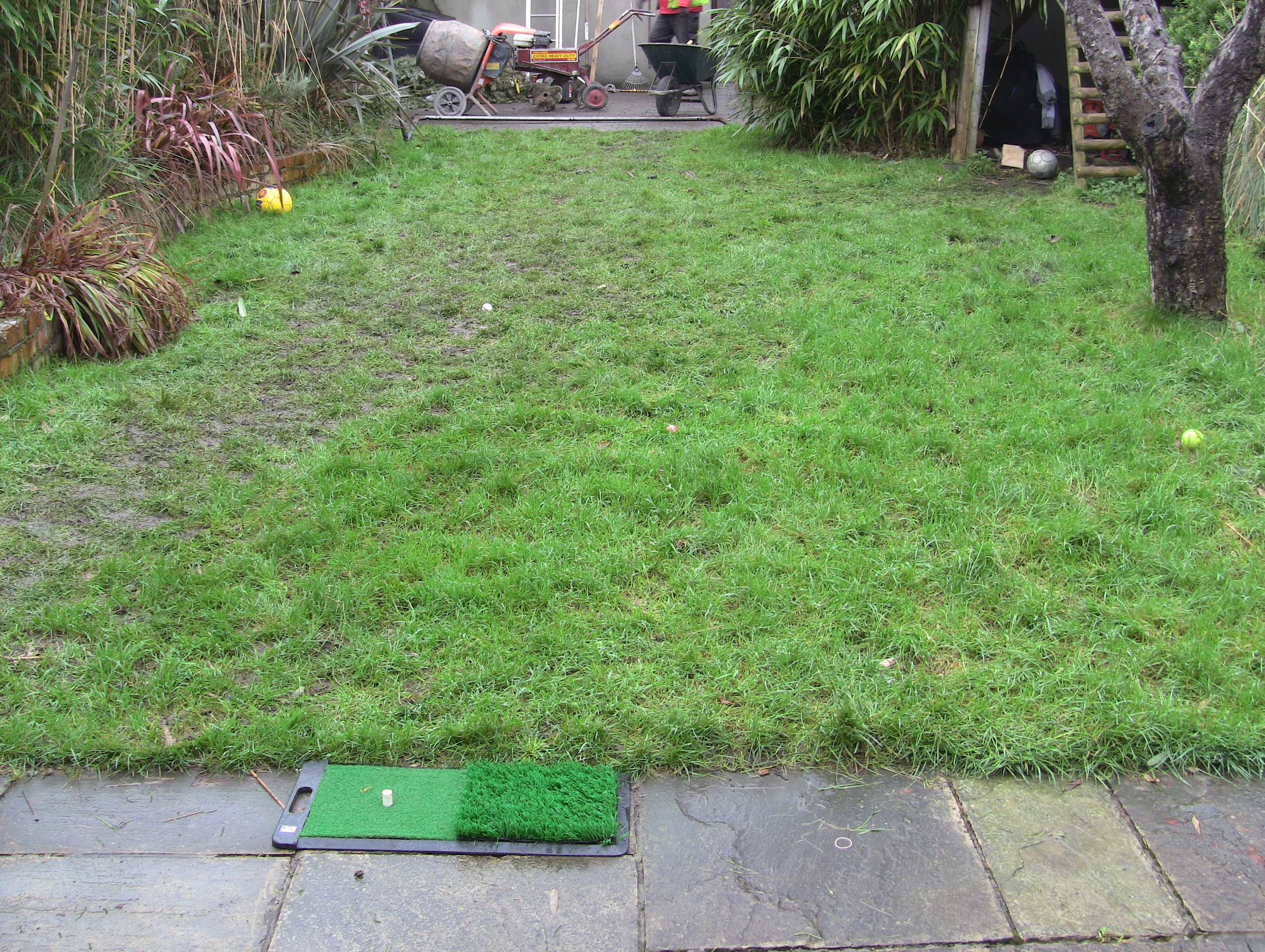 back garden prior to turf install