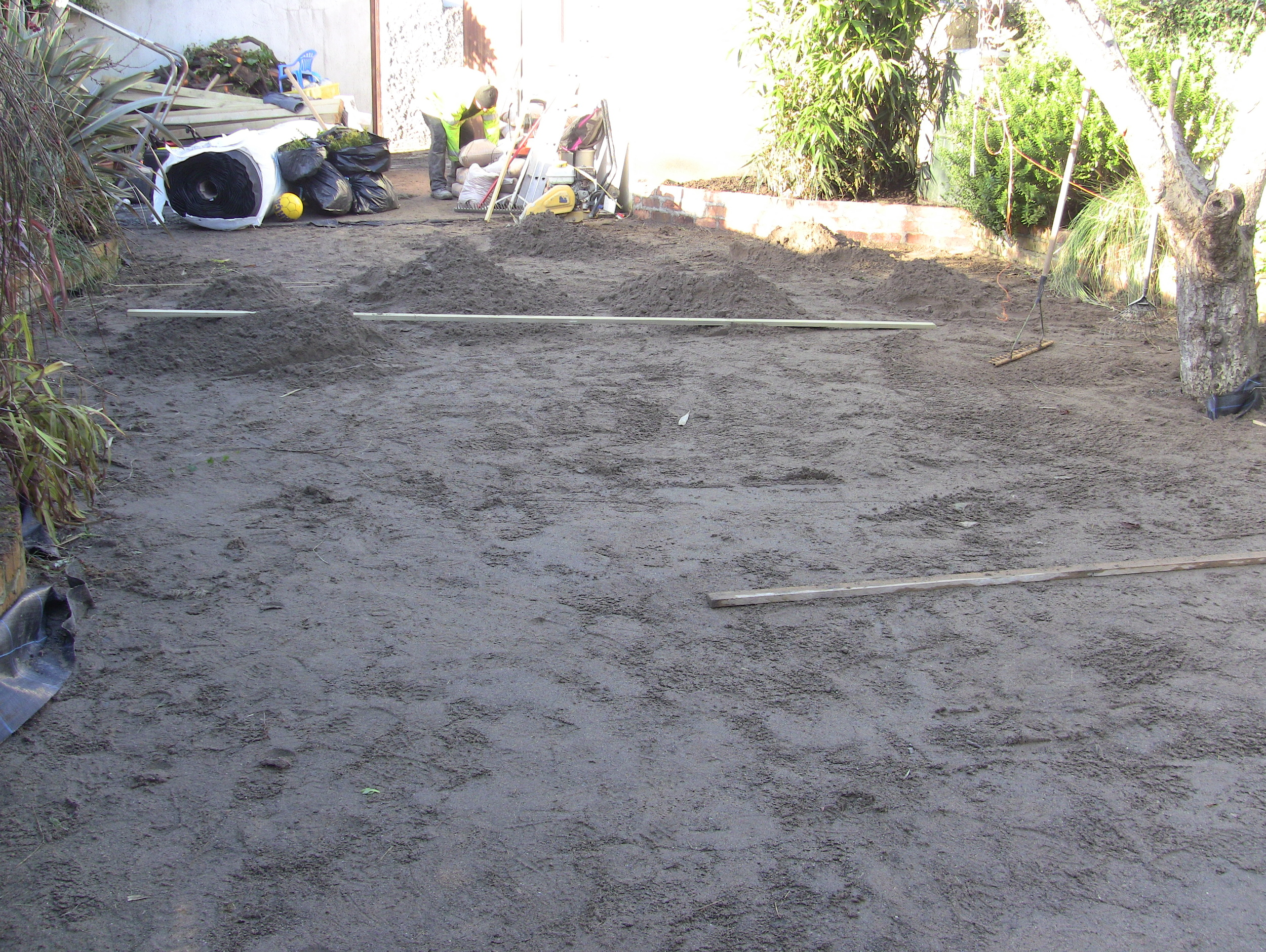 sand screed for lawn