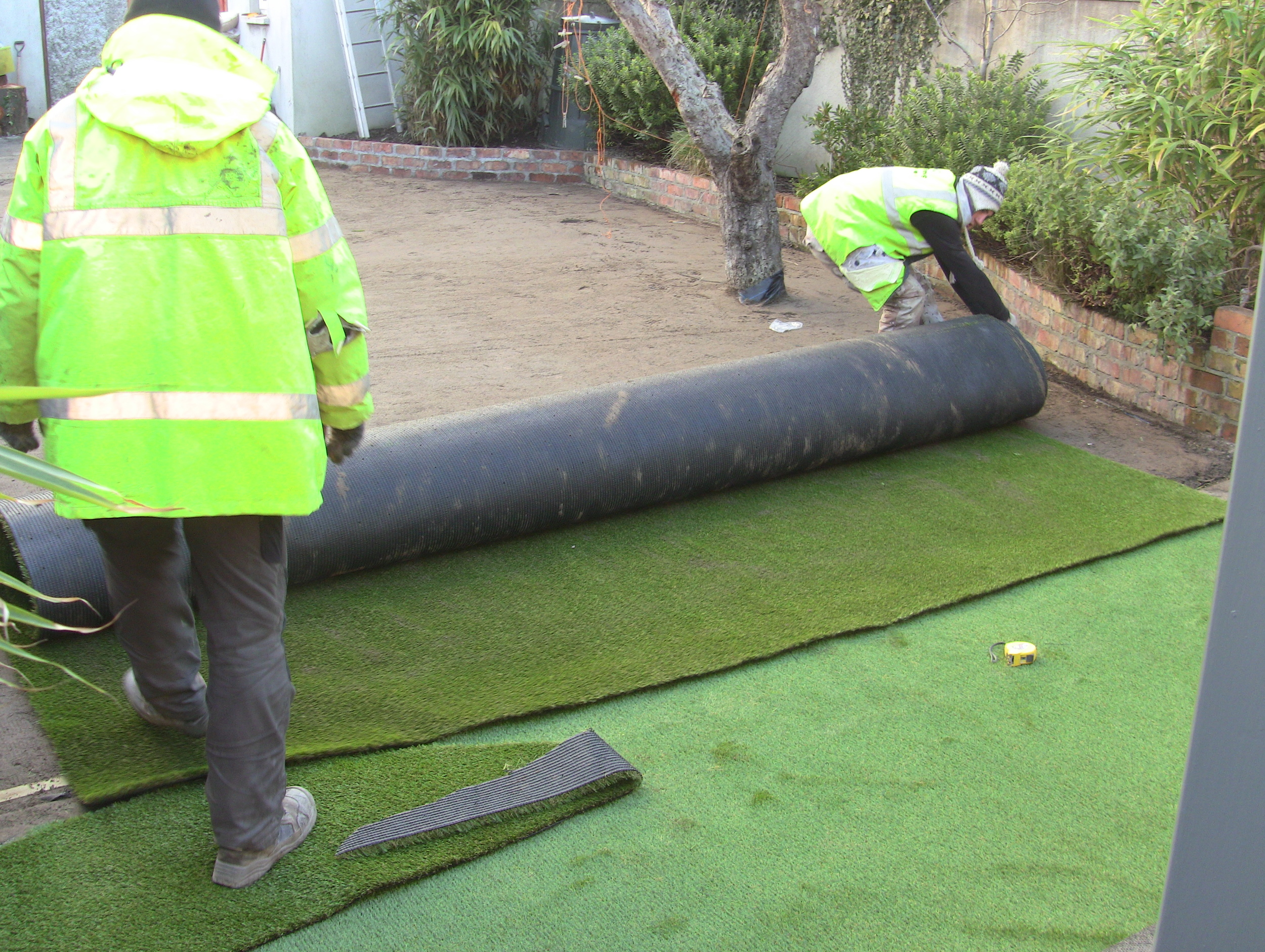 approved installers fitting lawn