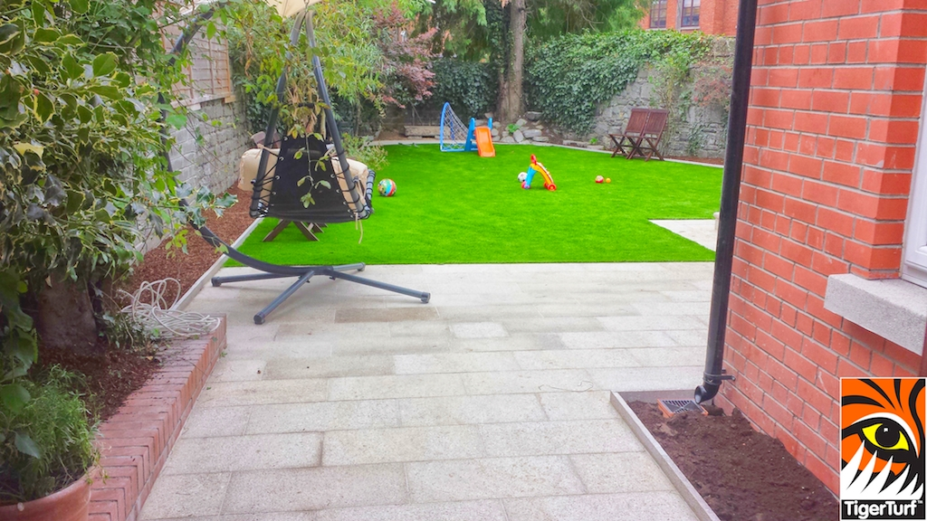 patio and grass