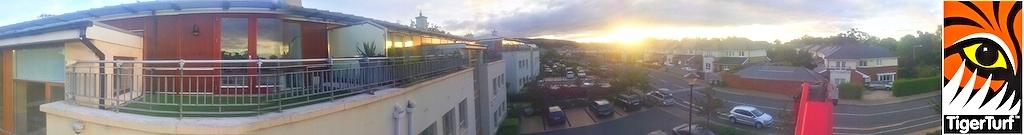 panoramic shot of balcony