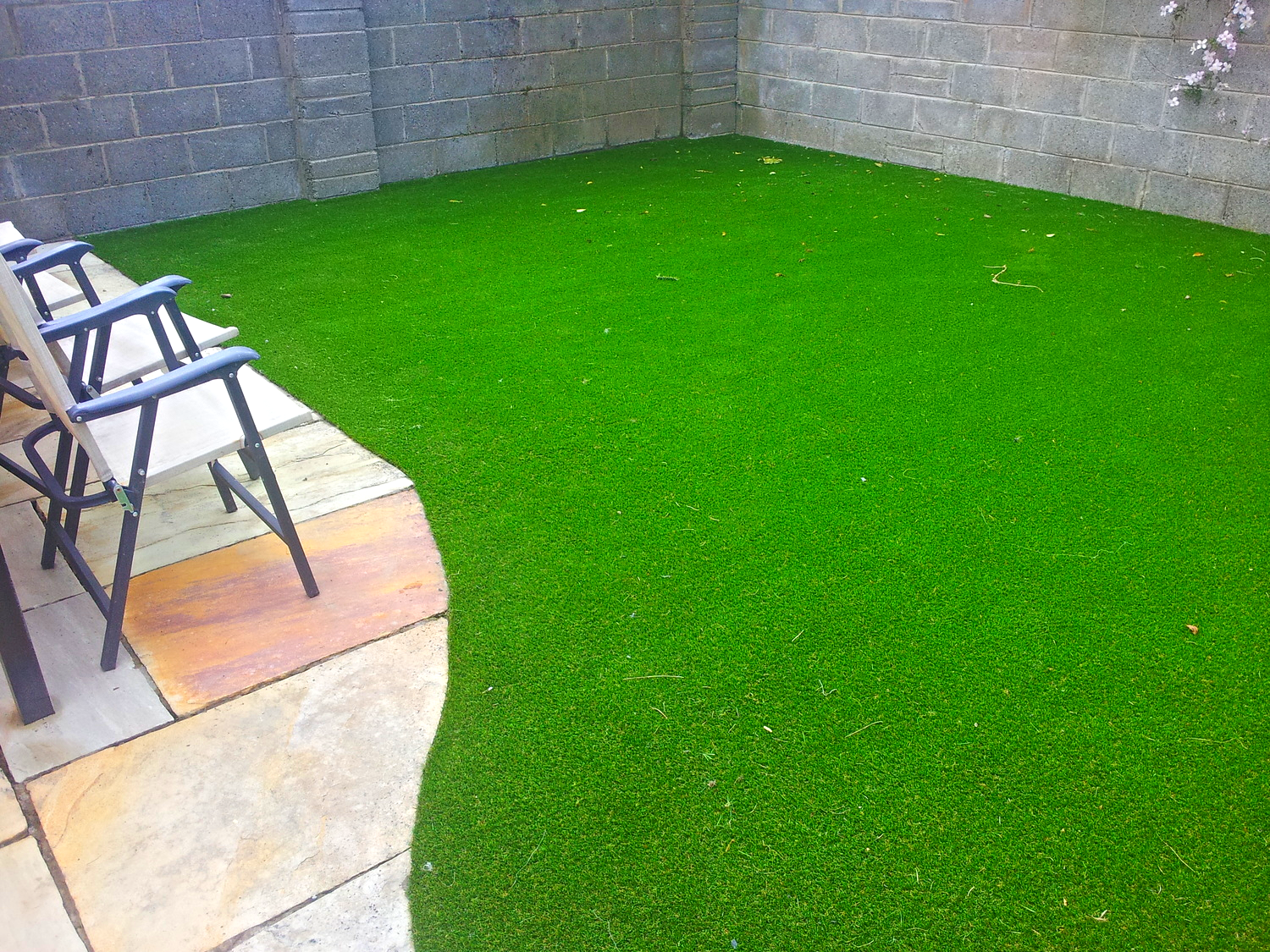 TigerTurf synthetic and deck chairs