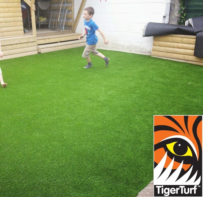 kid running on grass