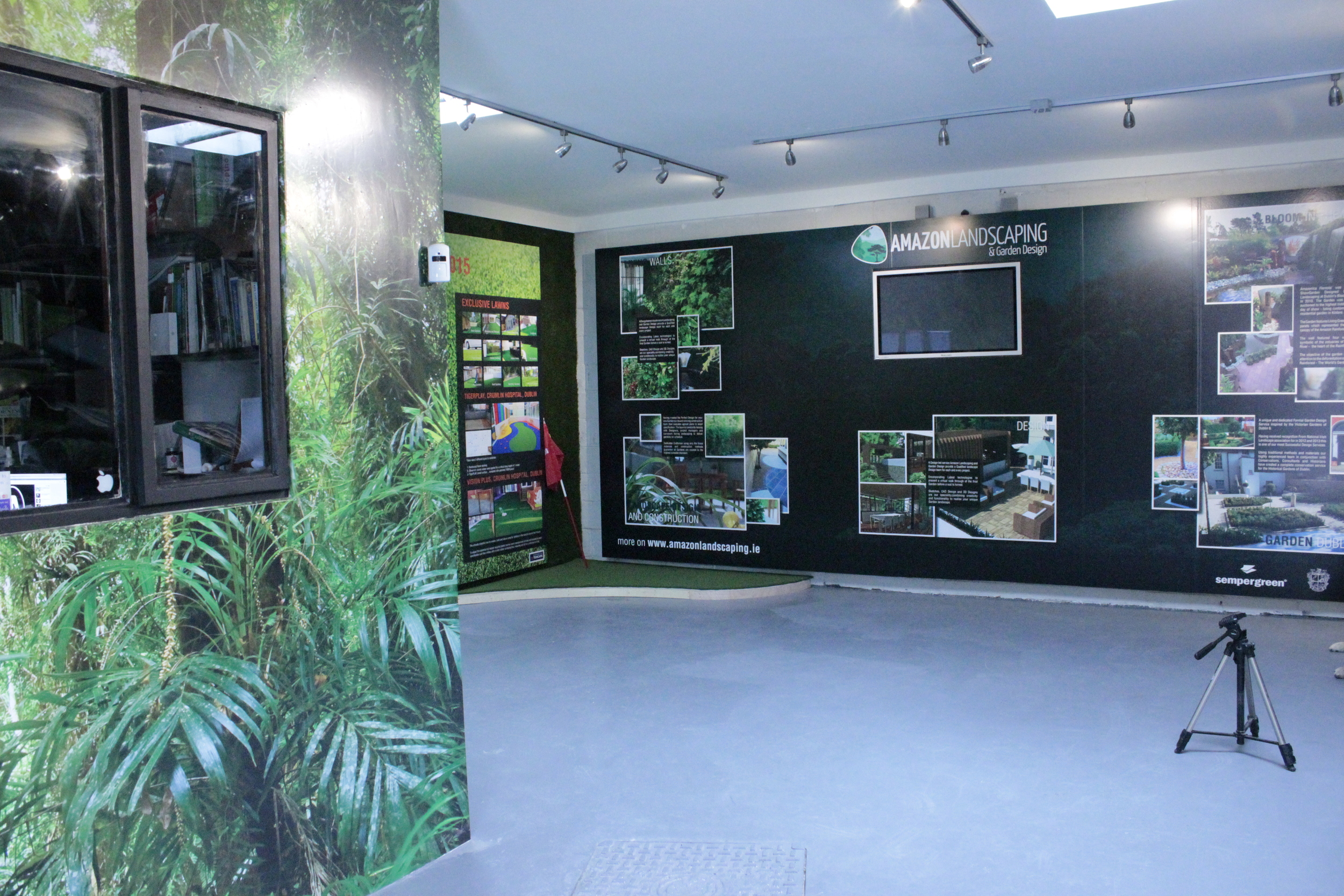 inside of Grass showrooms