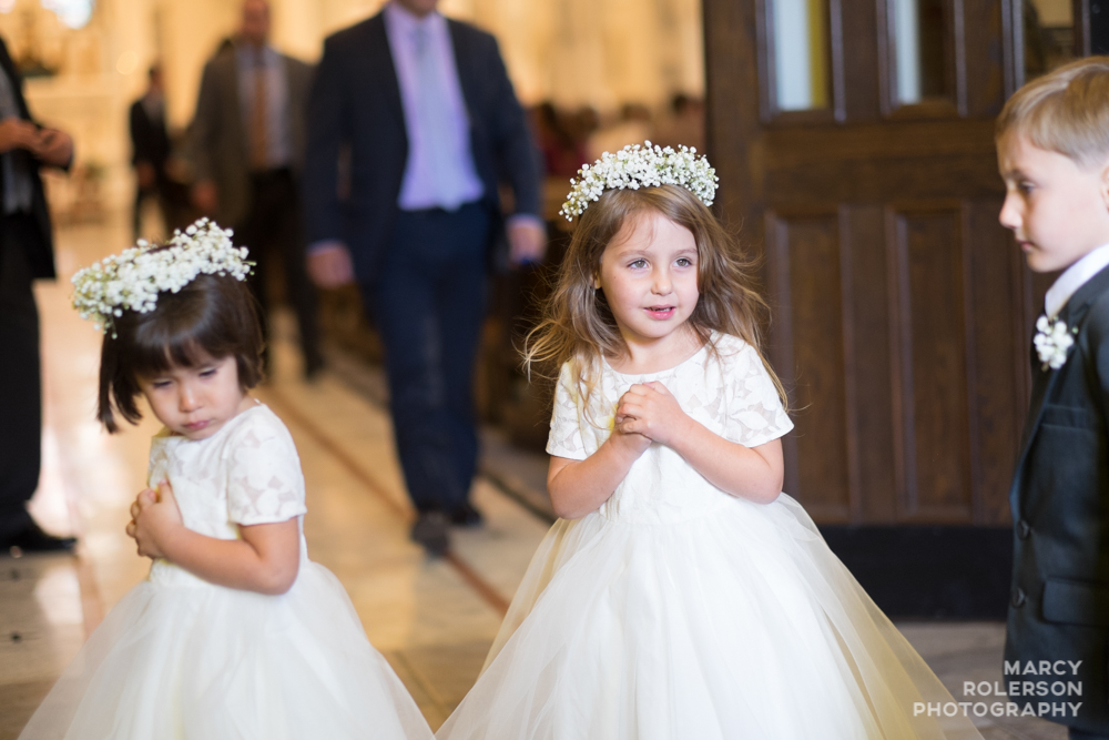 Flower girls say, shut the door, lady!