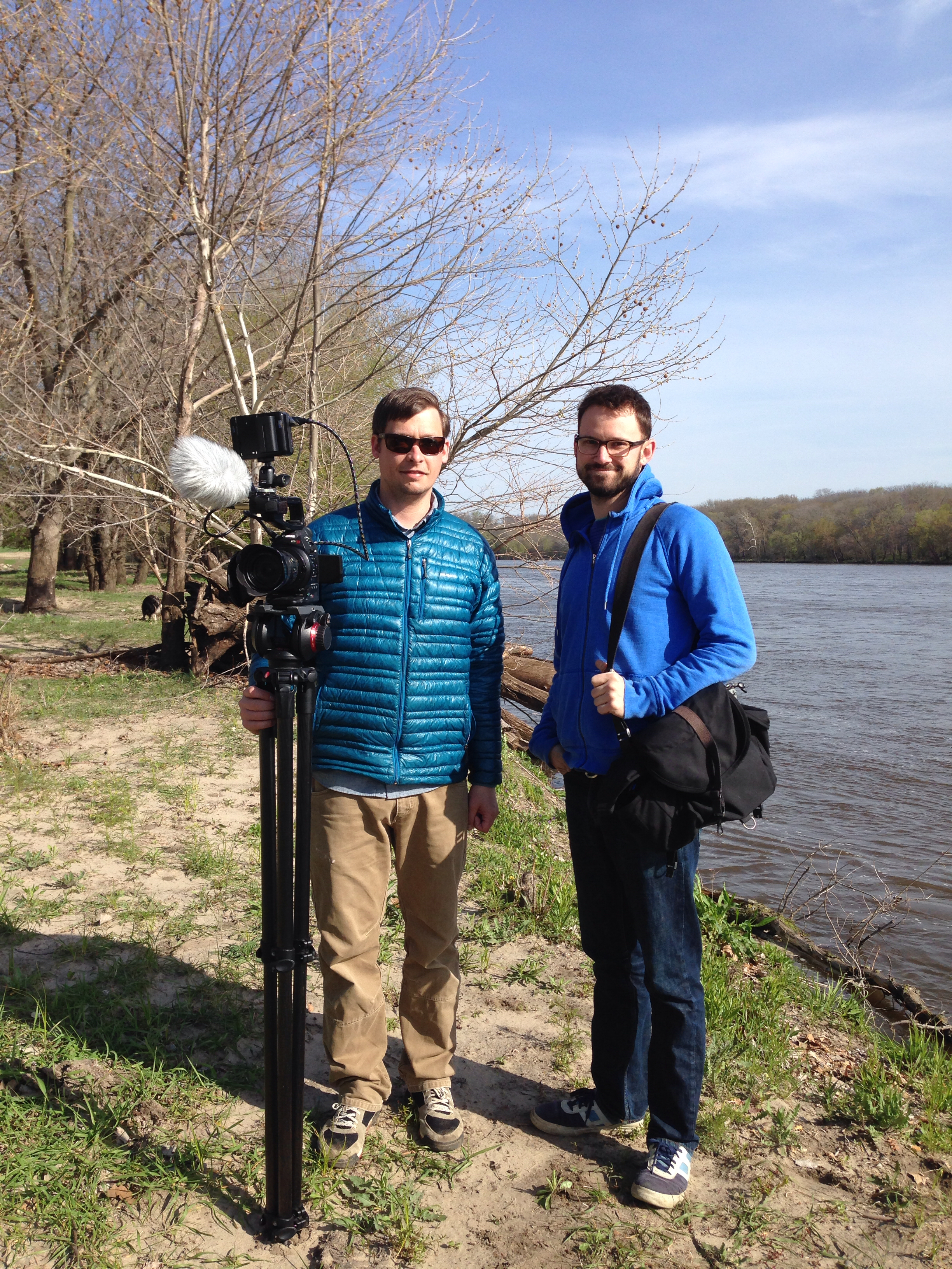 Filming on The Simple Gift of Walnut Grove with  James Davies .