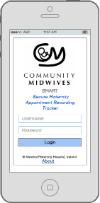 SMART App wireframe design