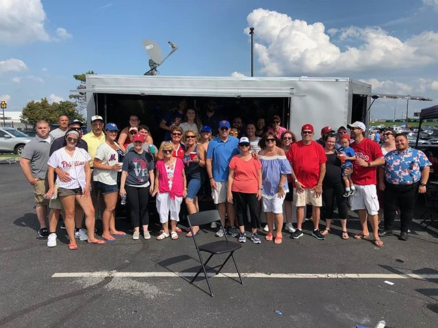 Another great Phillies tailgate party yesterday! #tailgate #tailgateparty # parkinglotparty #philadelphia #phillies