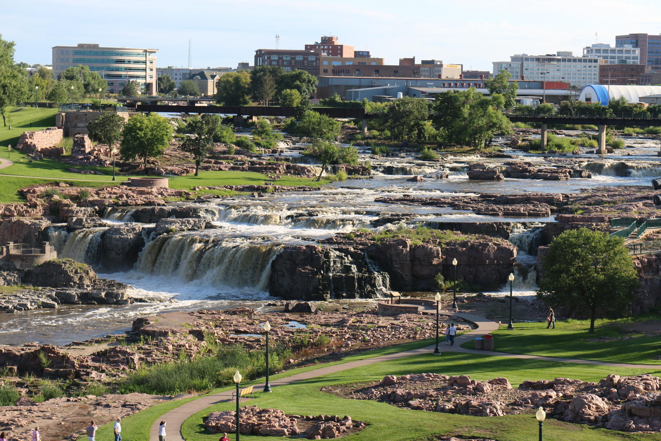 Falls Park, Sioux Falls, SD.