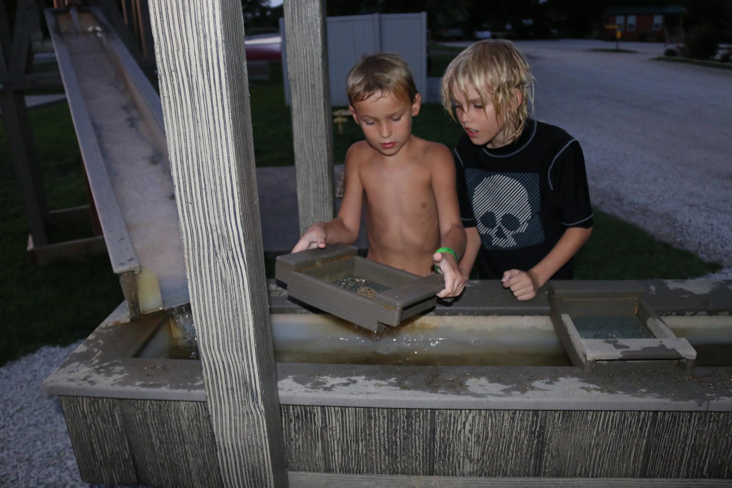 Gold panning - at the KOA campground!