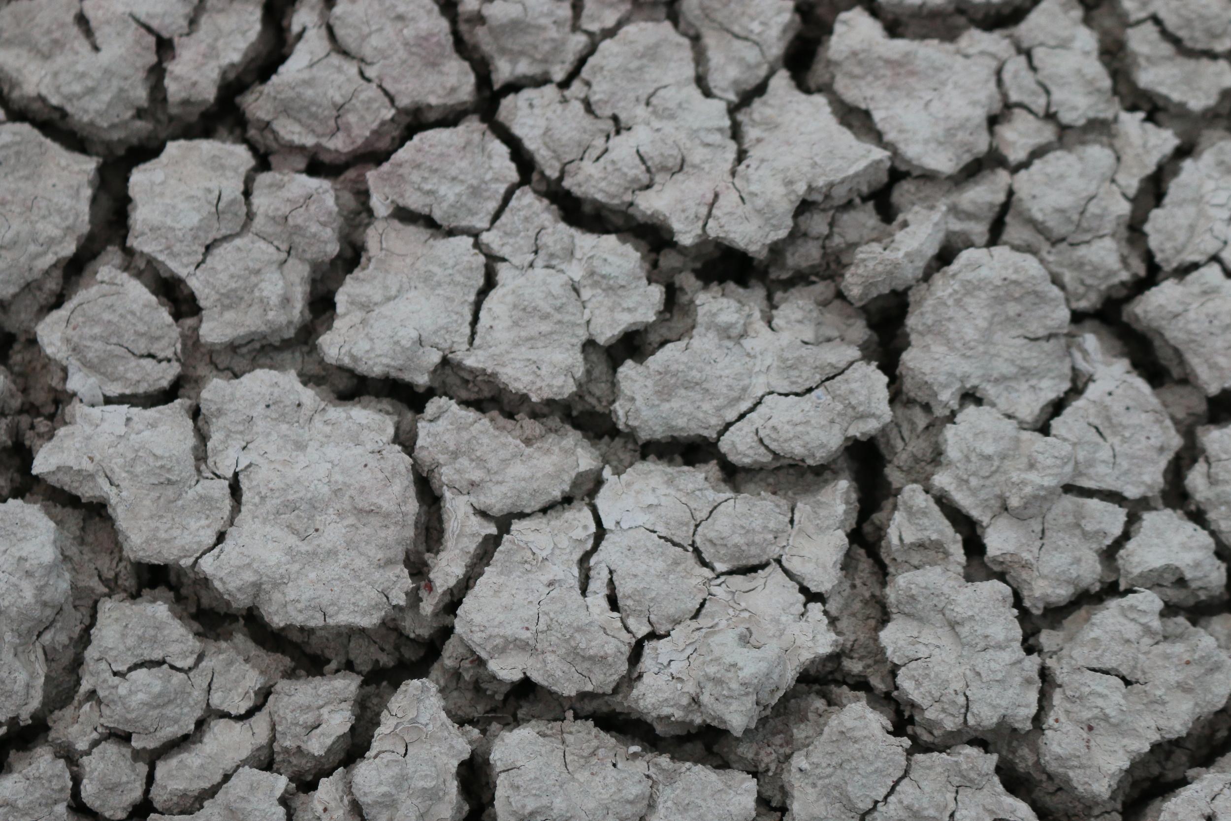 Popcorn soil, Badlands National Park, SD.
