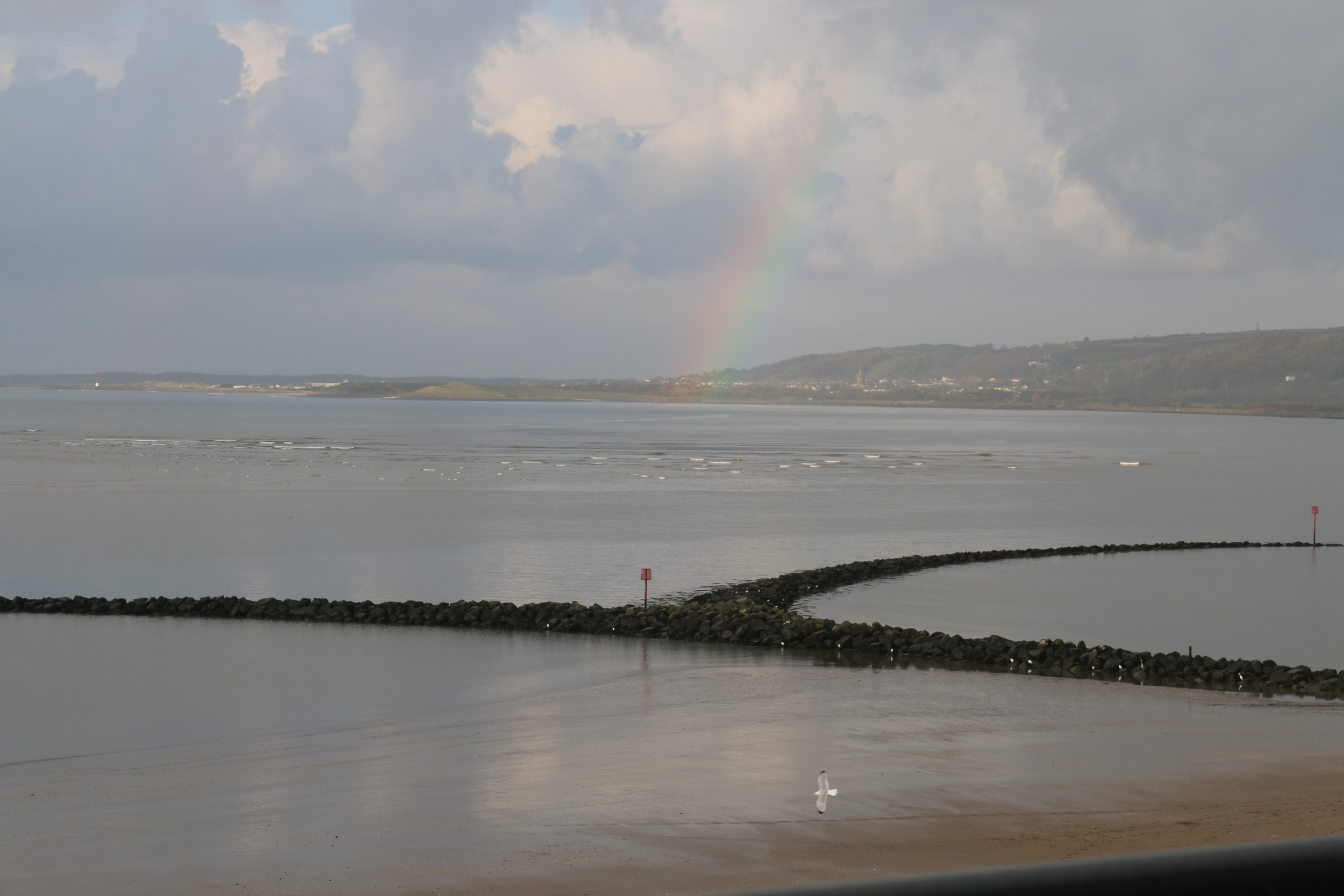 Llanelli: a view from the front balcony.