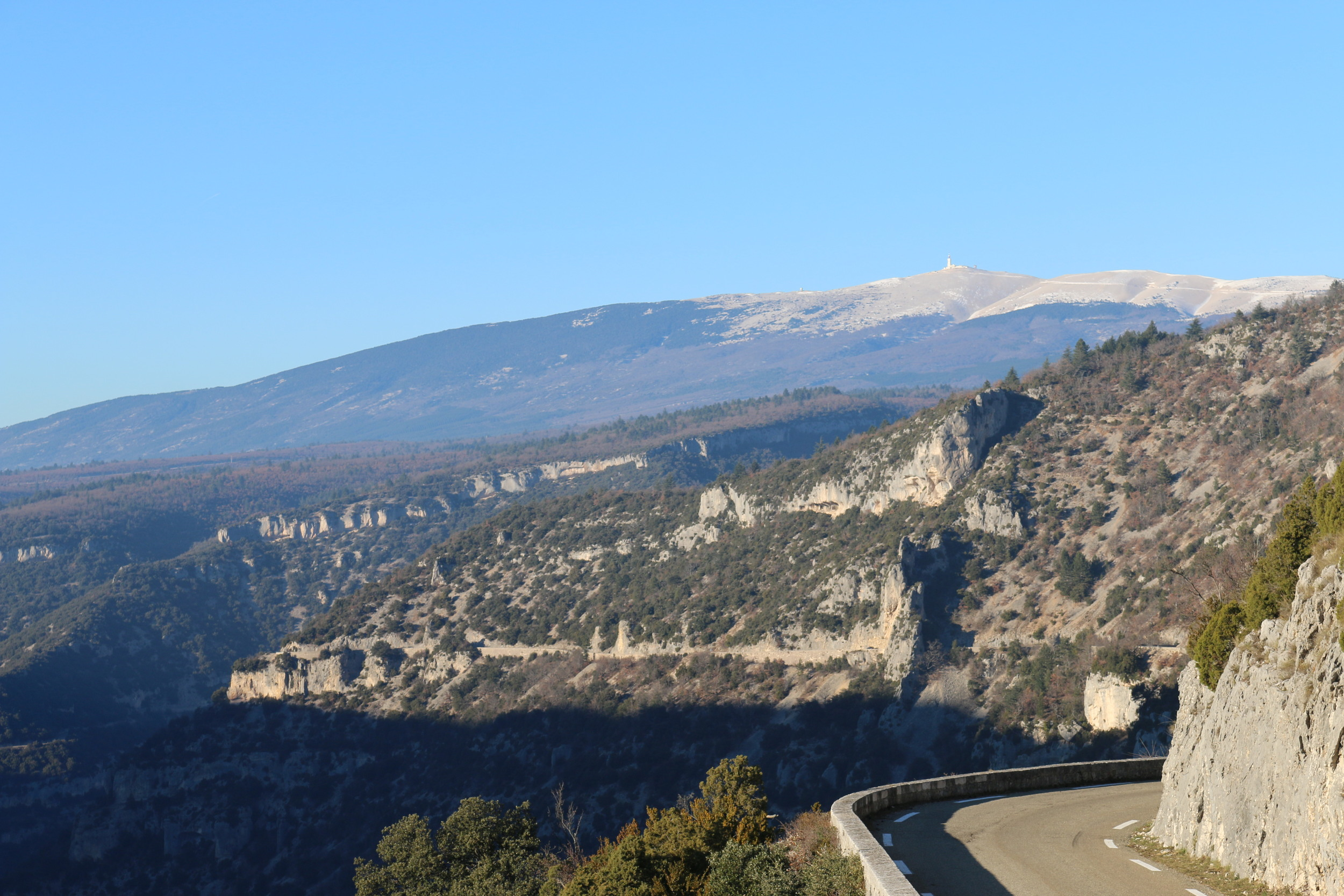 Mont Ventoux in the distance.