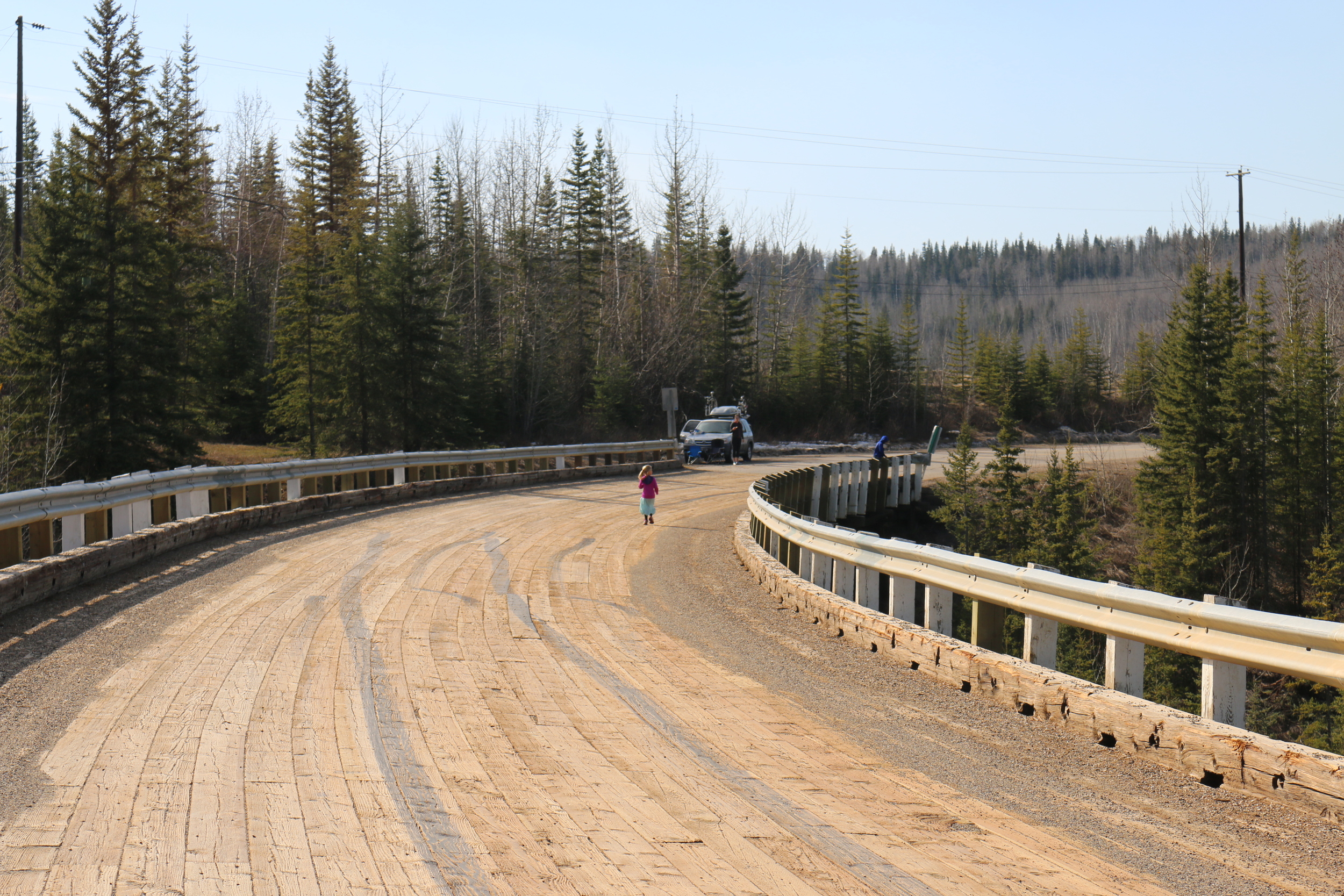 Kiskatinaw Bridge: I didn't drive the RV across it!