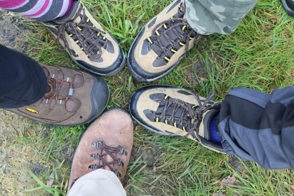 New hiking boots for everyone except Daddy!