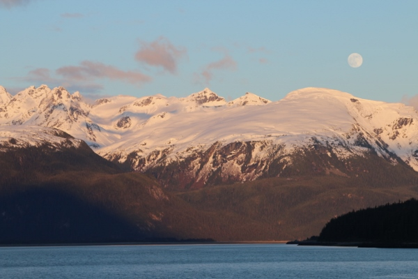 Haines: evening view from our site in Oceanside RV campground