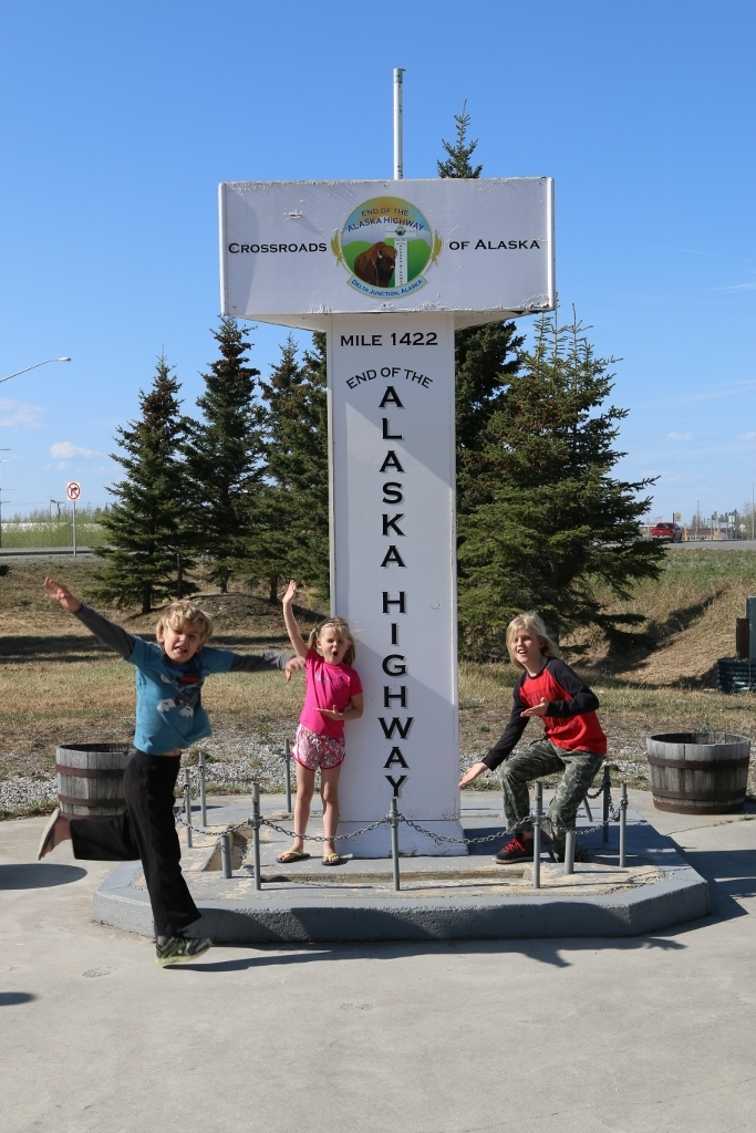 We made it! Delta Junction, AK - end of the Alaska Hwy.