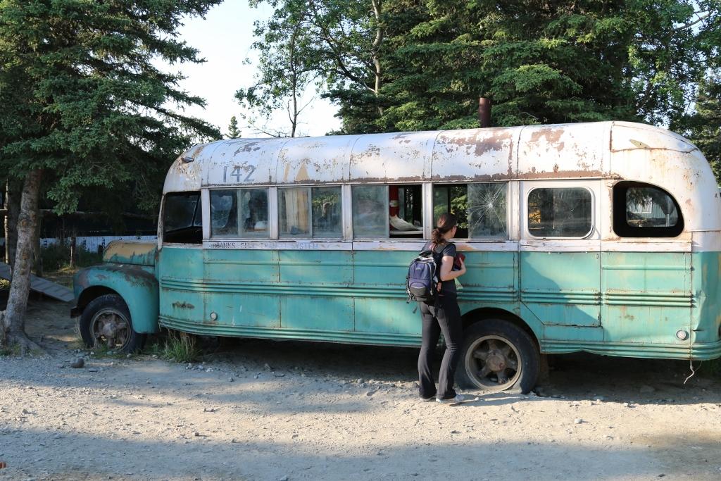 "The ""Into the Wild"" replica bus used in the movie"