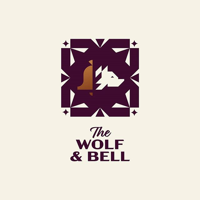 The Wolf & Bell pub 🍺 . . . #logostandard #logodesignerlondon #logodesigner #logomark #pub #publichouse #wolf #bell #branding #icon #illustration #typography #type #design #logoinspirations #logoexcellent #logobloom #logohero #inspofinds #womeninbusiness #minimalism #behance #logofolio #theptdesign