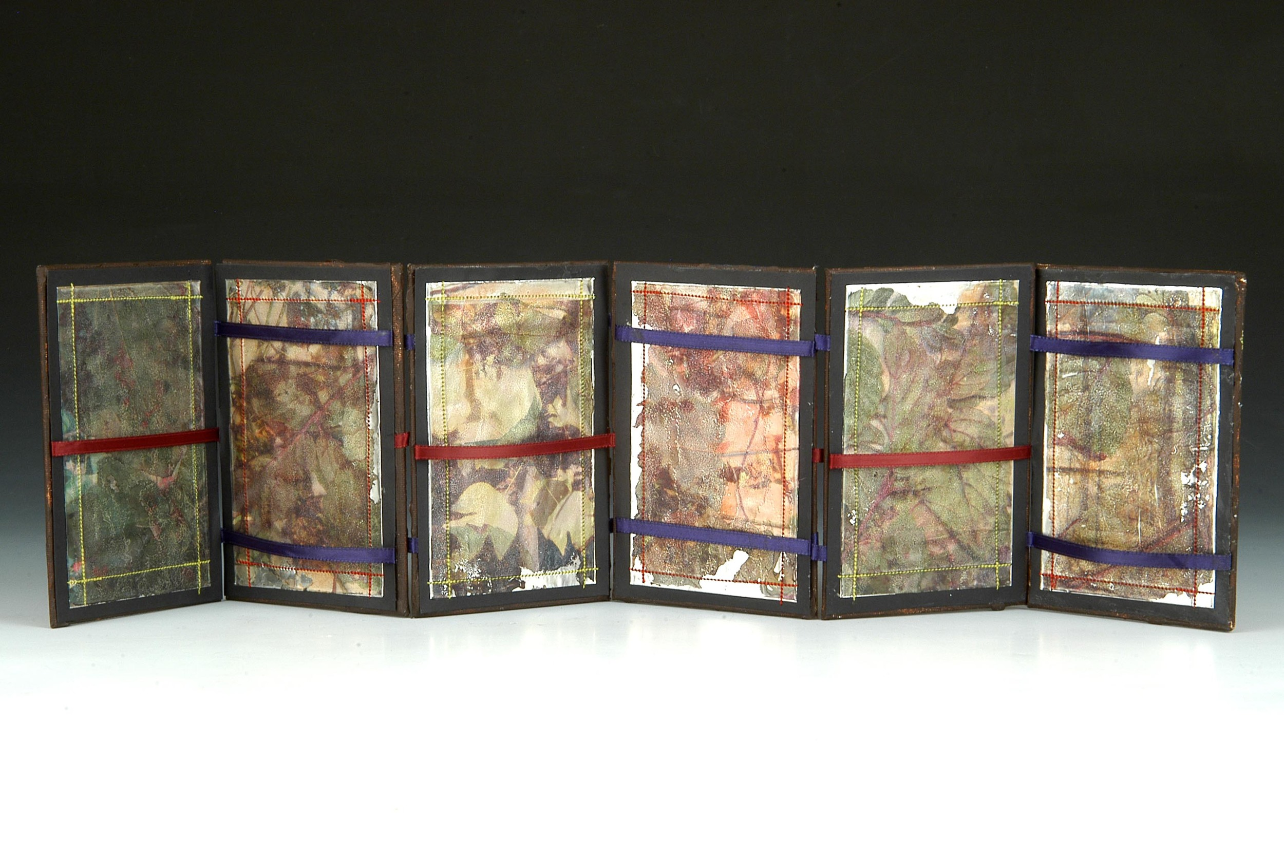 Jacob's Ladder Book , MaryLea Harris, Mixed Media with Emulstion Transfers