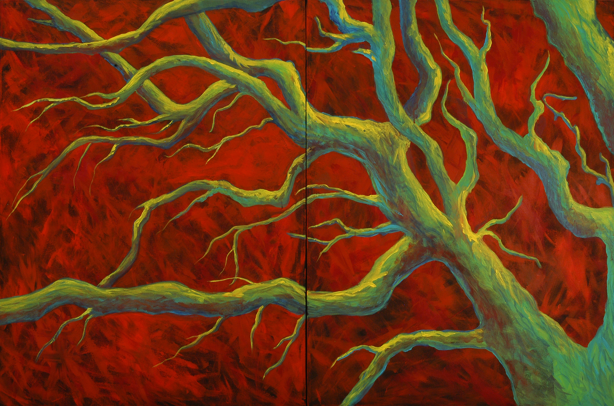 """Pilgrimage"" Diptych, MaryLea Harris, Acrylic on Canvas, 40"" x 60"""