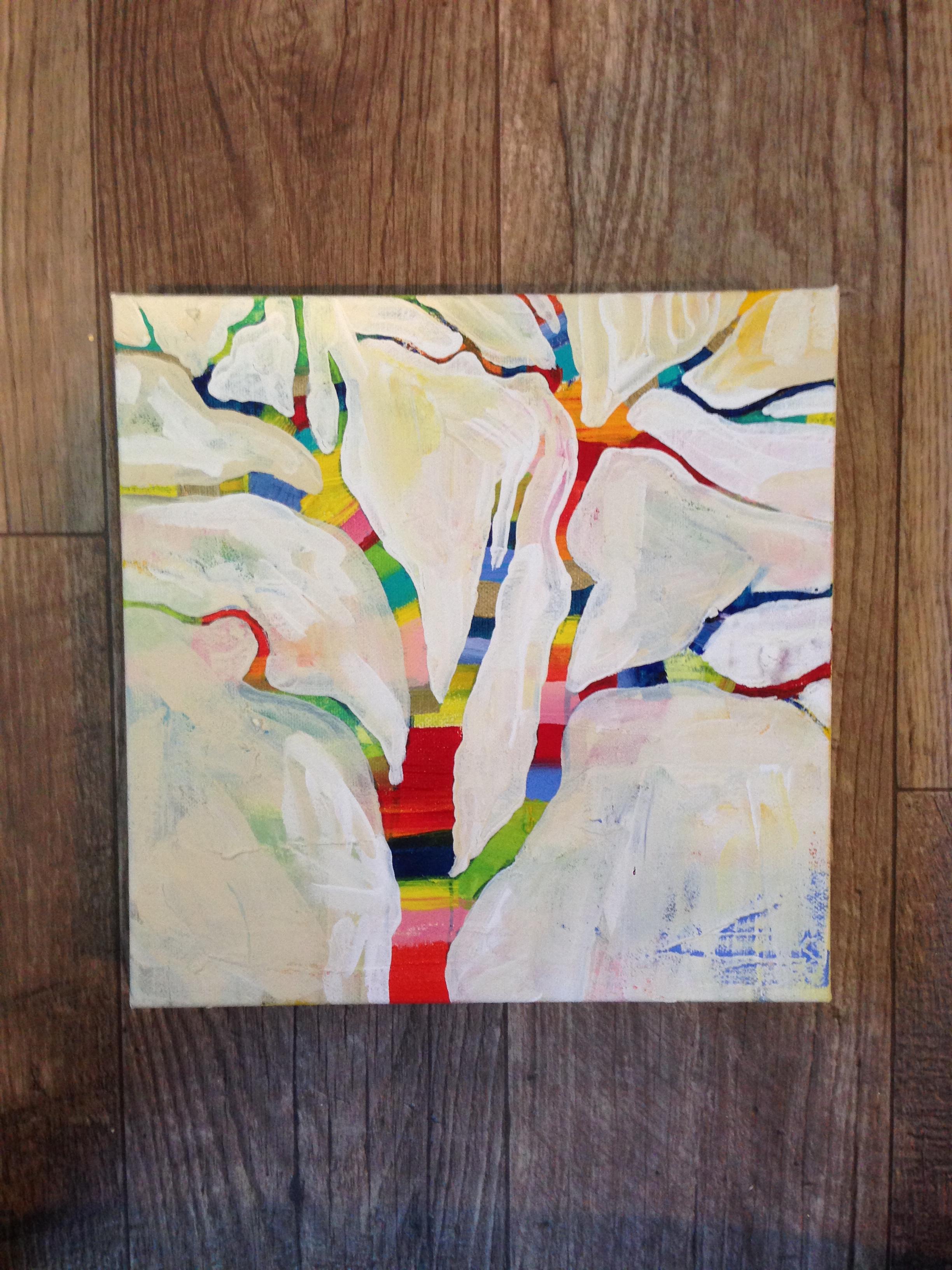 Happy Little Tree 1, MaryLea Harris Acrylic on Canvas, 2014 (SOLD)