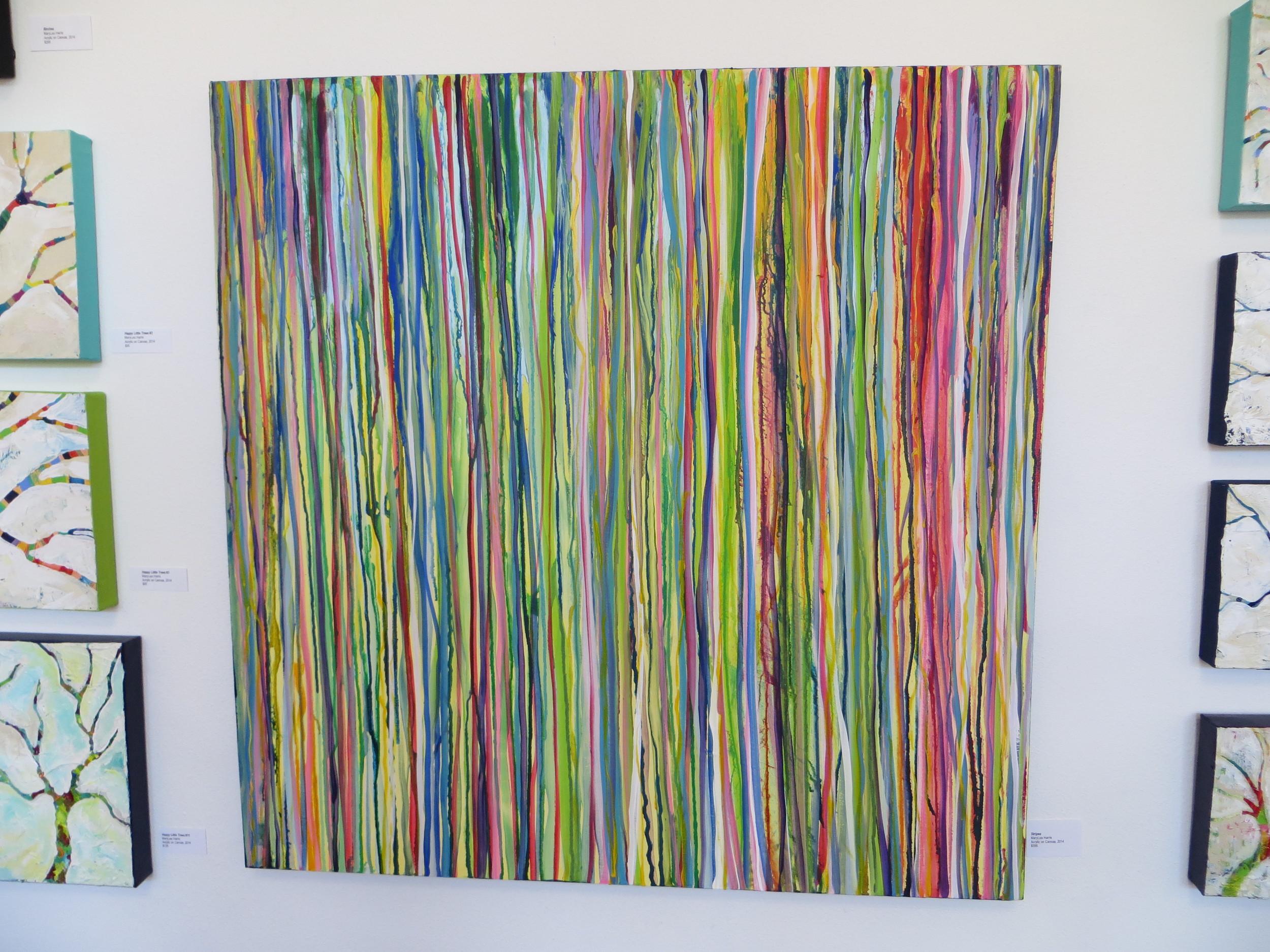 """""""Stripes"""" MaryLea Harris, 2014 Acrylic on Canvas, 36""""x36""""(SOLD)"""