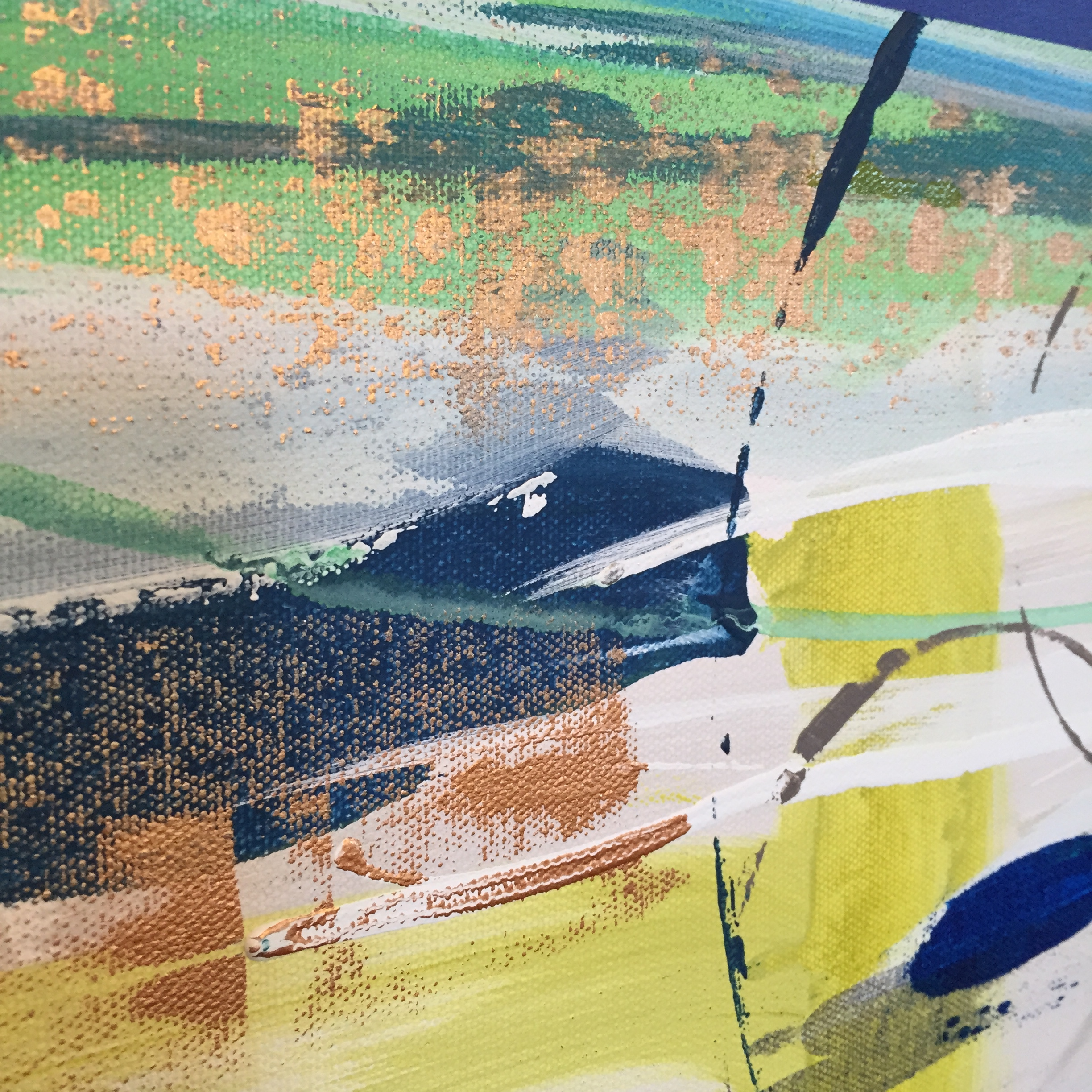 Close-up of Large Abstract Painting, 2015, MaryLea Harris