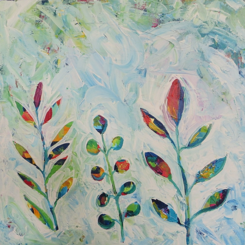 """Happy Little Leaves"" (2014) by MaryLea Harris, SOLD"
