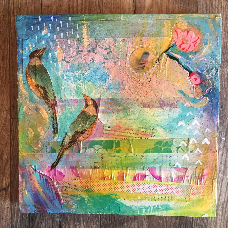 Bird 2 Mixed Media 2015 by MaryLea Harris (SOLD)